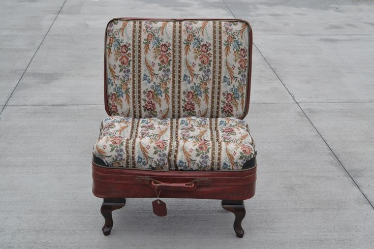 Suitcase chair made for exhibition
