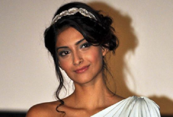 best sonam kapoor hairstyles The loose chignon hairstyle