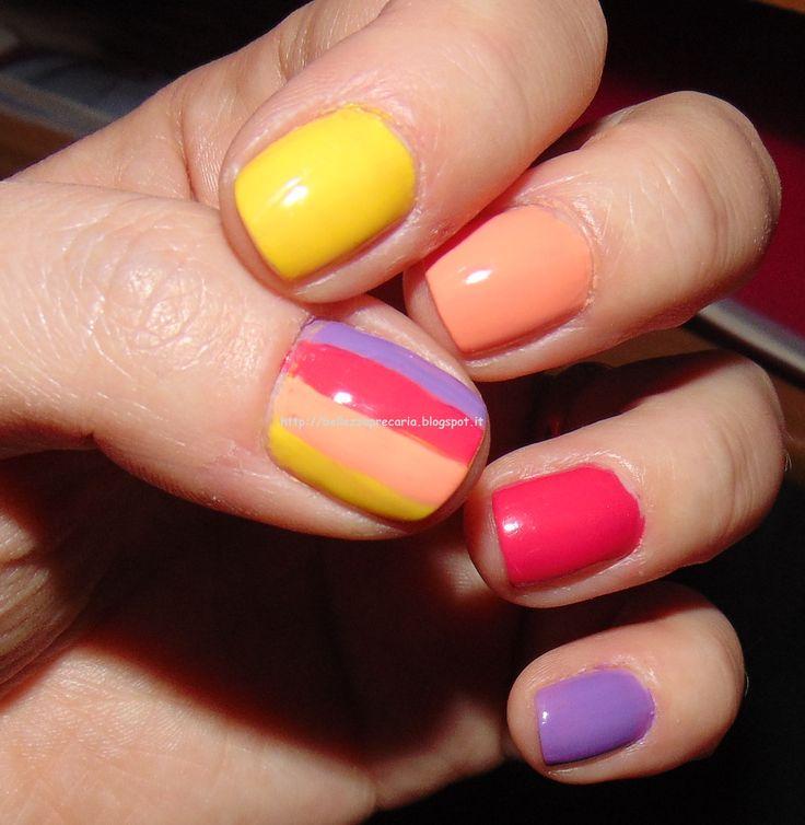 New post on my blog: NAIL LOOK ARCOBALENO... http://bellezzaprecaria.blogspot.it/2014/11/nail-look-arcobaleno.html #bellezzaprecaria #nails #unghie #nailart #naillook #kiko #kikomilano #kikocosmetics #smalto #nailpolish