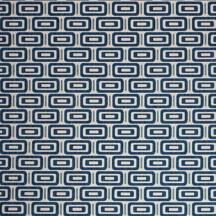 Warwick Fabrics : JIGSAW INDIGO