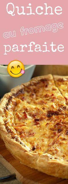 Quiche hyper savoureuse et facile au fromage                                                                                                                                                                                 Plus