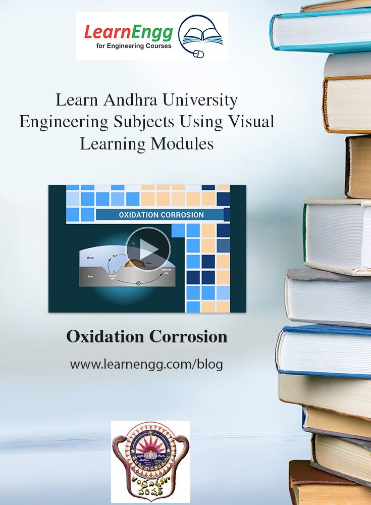 You can now visually and easily learn complex Engineering topics of Andhra University using LearnEngg visual modules.   [Click on image] for a sample video of 'Oxidation corrosion'   #learnengg #engineering #andhrauniversity
