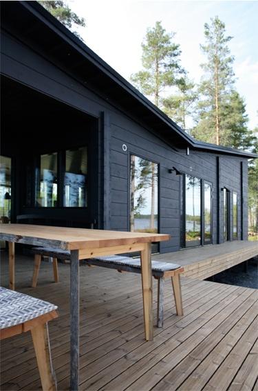 Black exterior wood decking architecture ii pinterest for Exterior hardwood decking