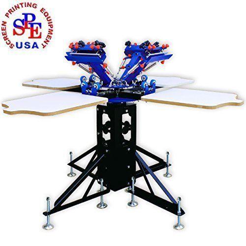 4 Color 4 Station Micro-adjut Silk Screen Machine Screen Printing Press DIY Screen Printing by Screen Printing Machine Series,