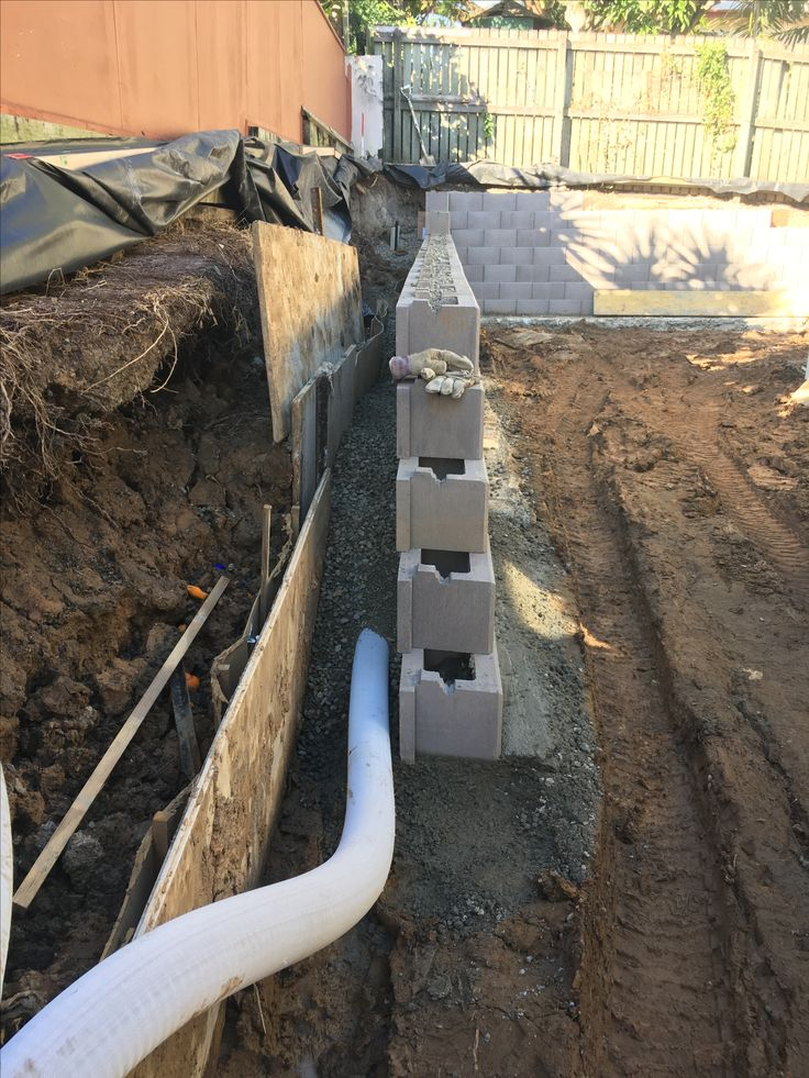 Backfilled wall with no fines
