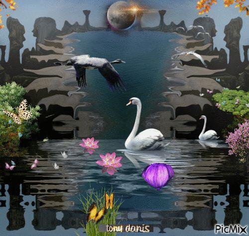 fantasy world 3 original backgrounds, painting,digital art by tonydanis