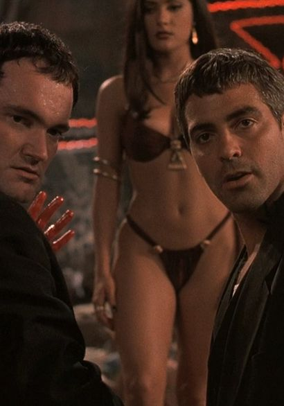 From Dusk Till Dawn (1996) - George Clooney, Quentin Tarantino> even they could not believe this woman and are left speechless!