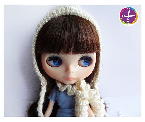 Crochet Hood and Scarf for Blythe
