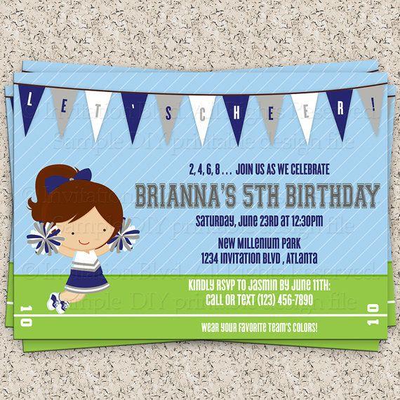 19 best Cheerleading birthday invitation images – Cheerleading Birthday Party Invitations