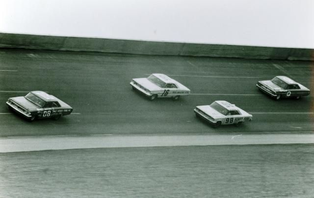 1965 ARCA 250 - Danny Byrd leads Andy Hampton, Benny Parsons and Jack Shanklin...