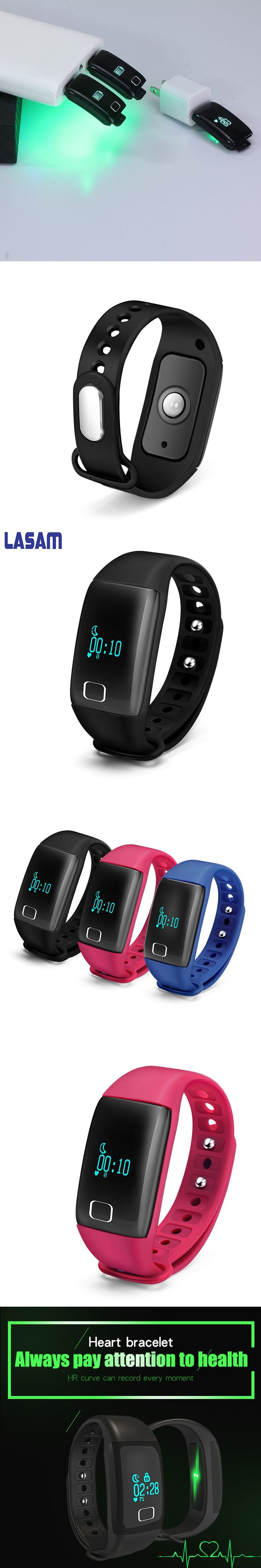 Bluetooth 4.0 Smart Band Wristband Heart Rate Monitor Smartband Fitness Step Bracelet For Android IOS Phone pk fitbit Waterproof