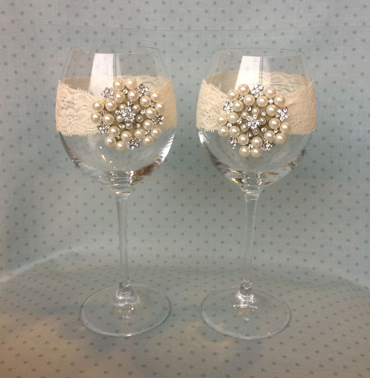 Wedding/ Anniversary Ivory Glass Garters set of 2 por PipBowtique