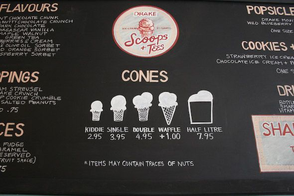 ice cream shop windows | Drake Scoops and Tees