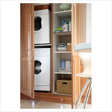 The 25 best laundry cupboard ideas on pinterest utility for Kitchen cabinet washing machine