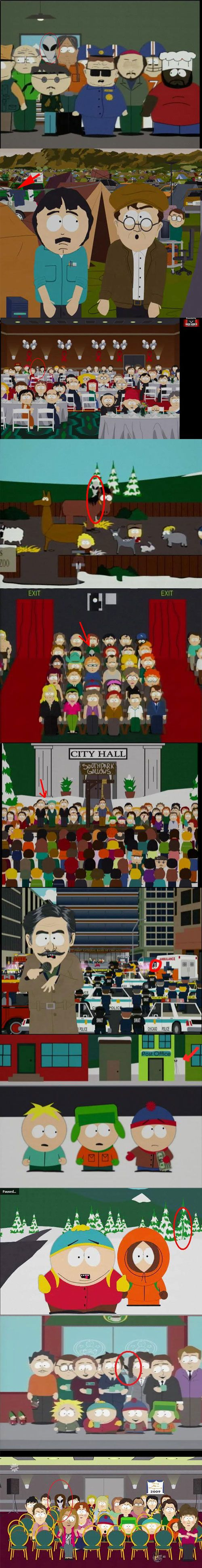 There is an alien on every episode of South Park