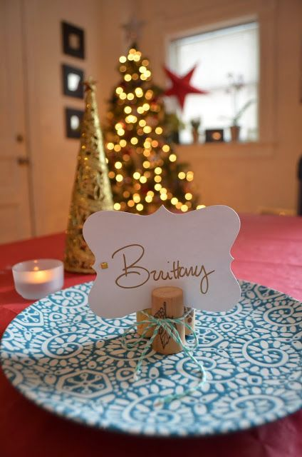 Simple #Holiday place cards. #DIY
