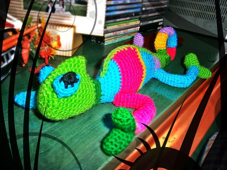 #Camaleón #crochet #ganchillo