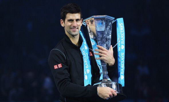 King with trophy