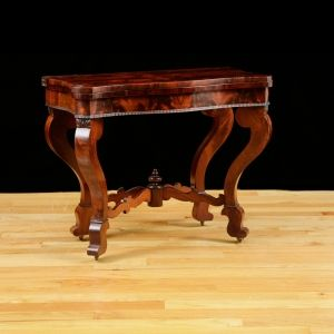 Antique American Game Table, attributable to Meeks & Sons, NY, c.1840