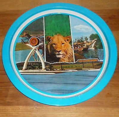 Vintage Animals Lion Country Safari Wild Animal Park Tray