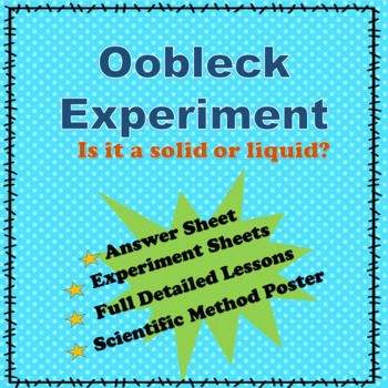 Oobleck Science Fair Project Hypothesis