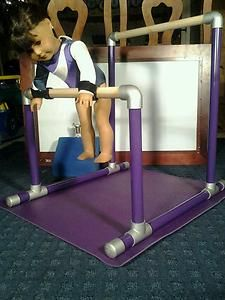 GYMNASTICS BARS AND BEAM. FITS AMERICAN GIRL DOLL MCKENNA N OTHER 18 INCH DOLLS
