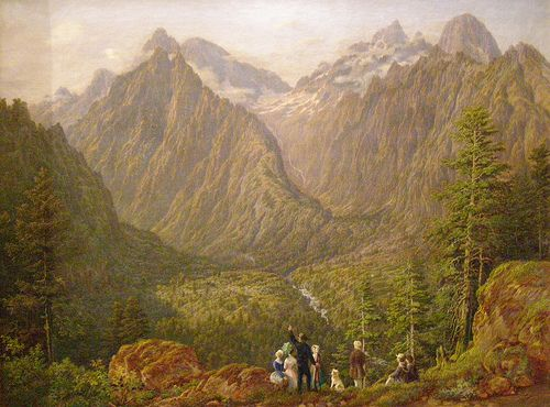 Karol Tibely, Tatra Countryside with Figural Staffage, 1855