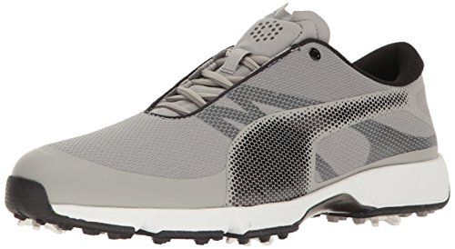 PUMA Golf Men's Ignite Drive Sport Golf Shoe, Drizzle Black