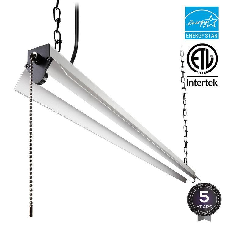 1/4 Pack 4ft LED Utility Shop Light, 40W, 3200lm, 4000K Cool White/5000K Daylight, Energy Star (1 pack-4000k)