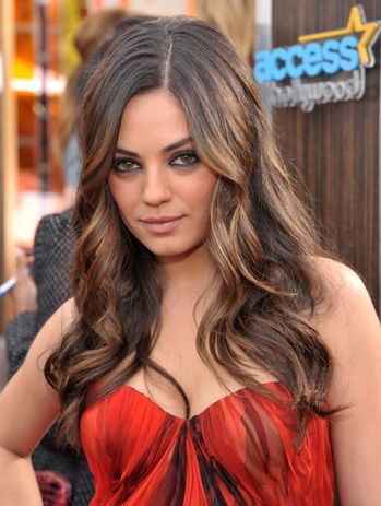 mila kunis has the perfect hair with multi dimensional color and natural variation