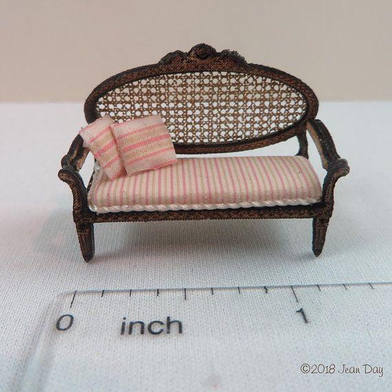 Doll house furniture Dollhouse Miniature Sofa COUCH Laser cut wood