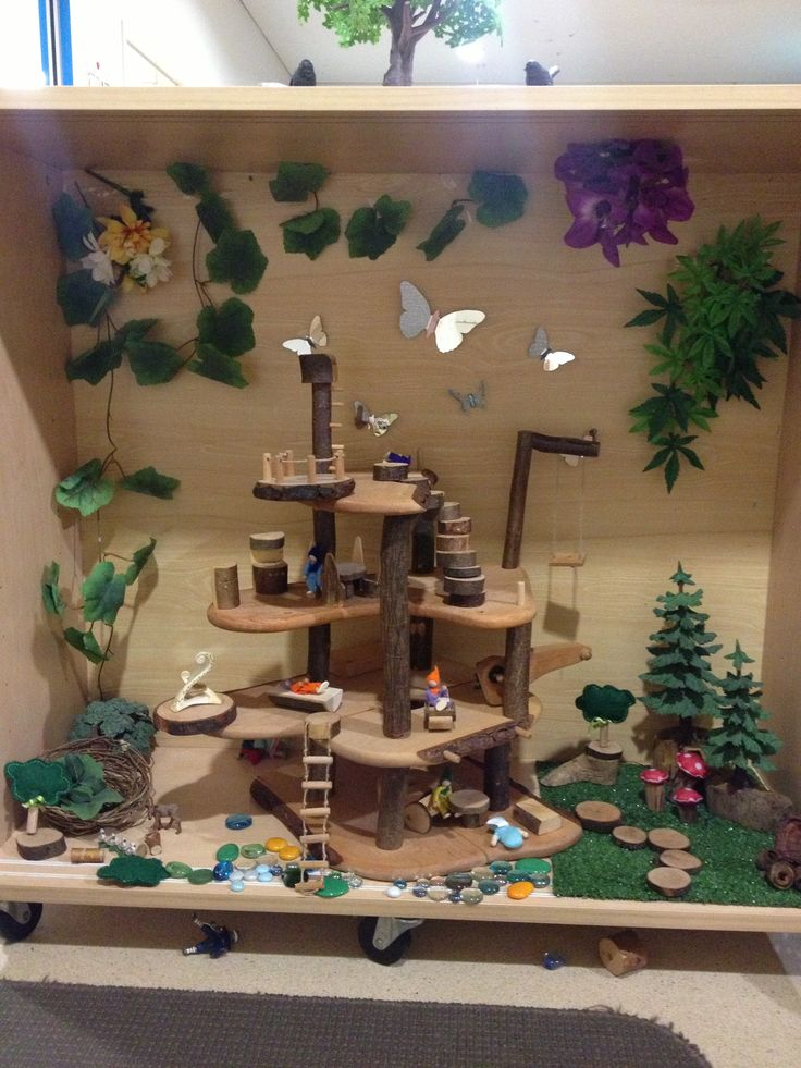 Fairy house play space using Steiner education resources