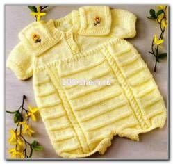 Летний комбинезон для девочки - Комбинезоны - Детские модели - Модели вязанной одежды - Схемы вязания