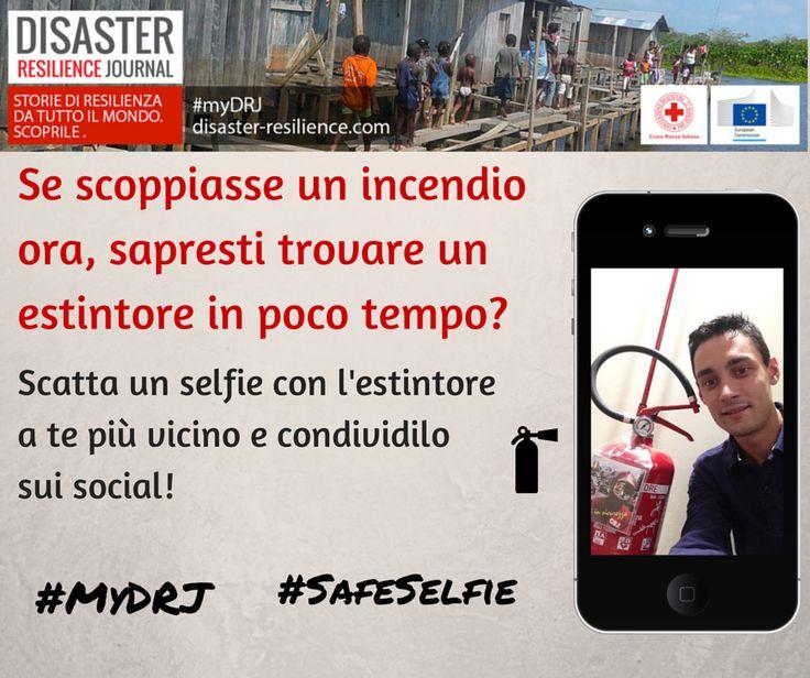 E se scoppiasse un incendio adesso saresti pronto? Sapresti cosa fare? Partecipa alla nostra iniziativa per aumentare la resilienza delle comunità: scopri dove si trova l'estintore più vicino a te! Scatta un #selfie e condividilo con hashtag #MyDRJ