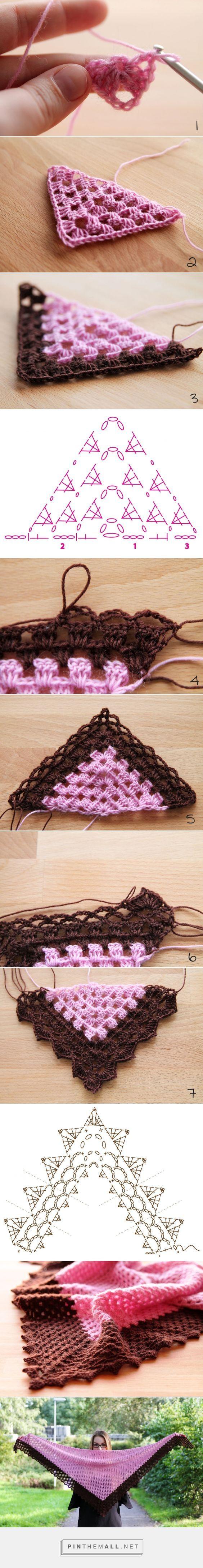 Pattern: Vintage Sweet Shawl (EN) -   ༺✿Teresa Restegui http://www.pinterest.com/teretegui/✿༻: