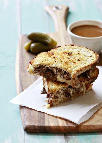 slow cooker french dip panini via @Katie Goodman