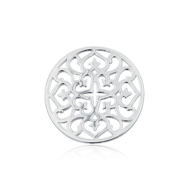 Sterling silver pendant disc insert. #elysiancollection #emmaandroe #jewelry #jewellery #pendants #interchangeable
