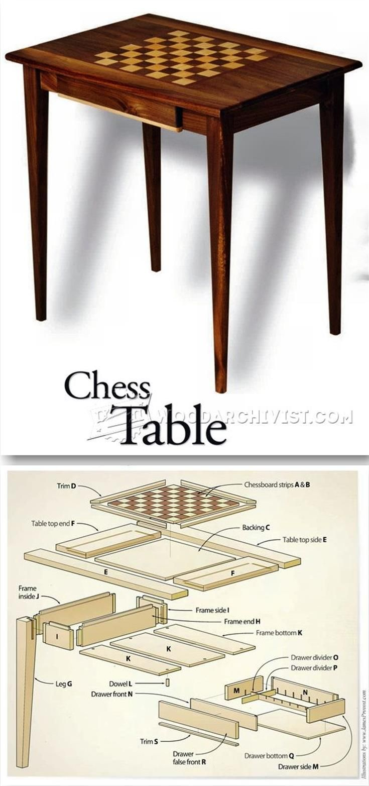 Chess Table Plans - Furniture Plans and Projects | WoodArchivist.com