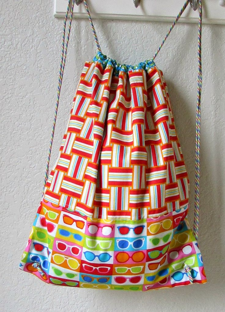 craftytammie: Drawstring Backpack Tutorial