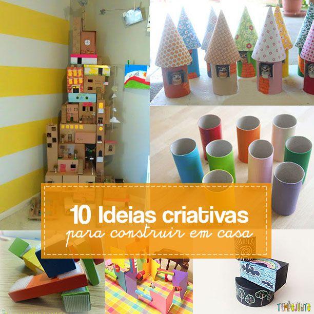 Para estimular a criatividade de meninos e meninas e inventores, um post com 10 maneiras divertidas de brincar de construir.