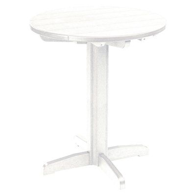 Outdoor CR Plastic Generations 40 in. Round Pub Height Table White - TBT13-02