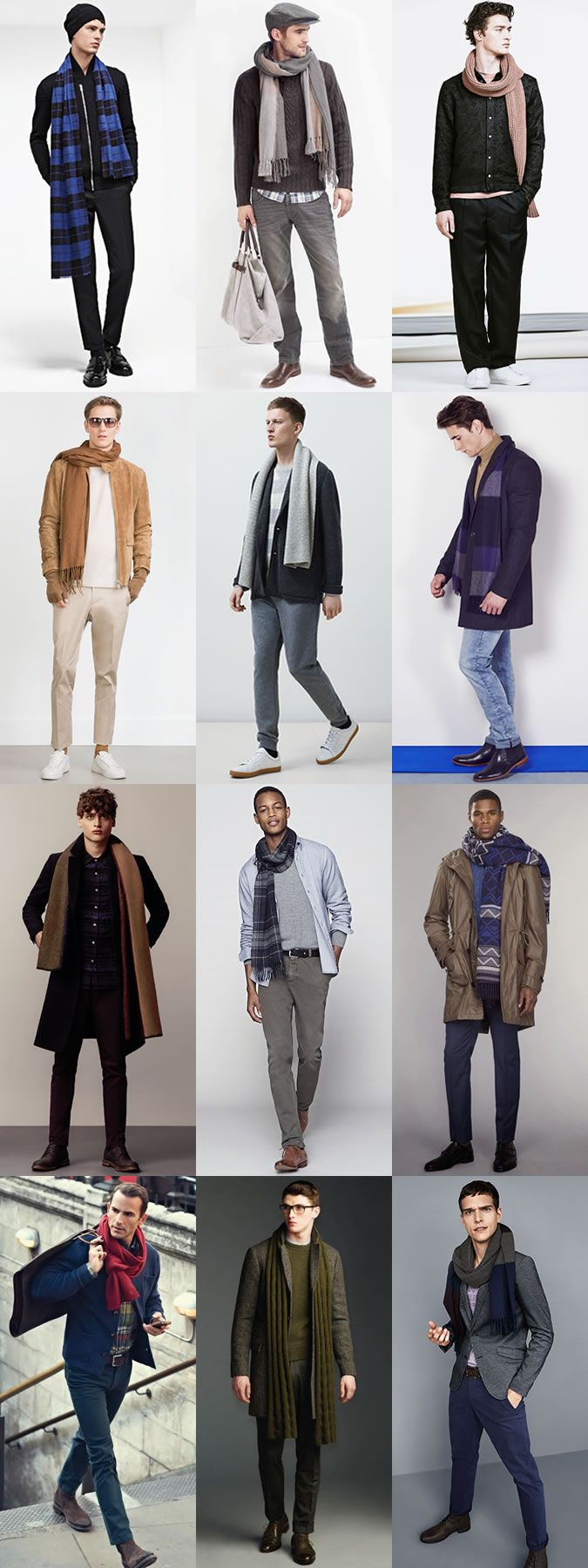 Men's Autumn/Winter Accessories: Scarves Autumn/Winter Outfit Inspiration Lookbook