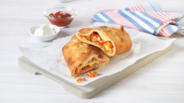 Oppskrift på Innbakt tacopizza, foto:
