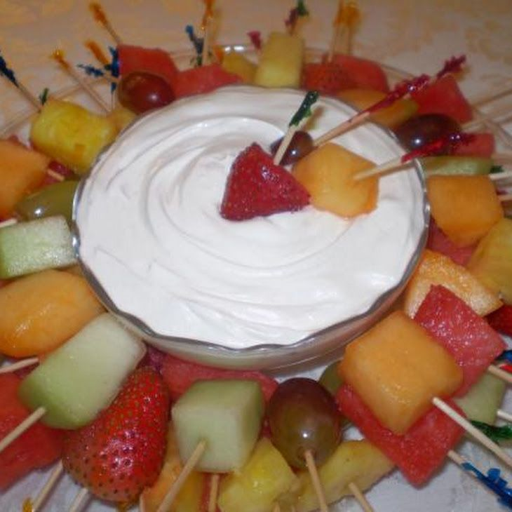 Fruit Dip - Marshmallow Crème, Cream cheese, cool whip