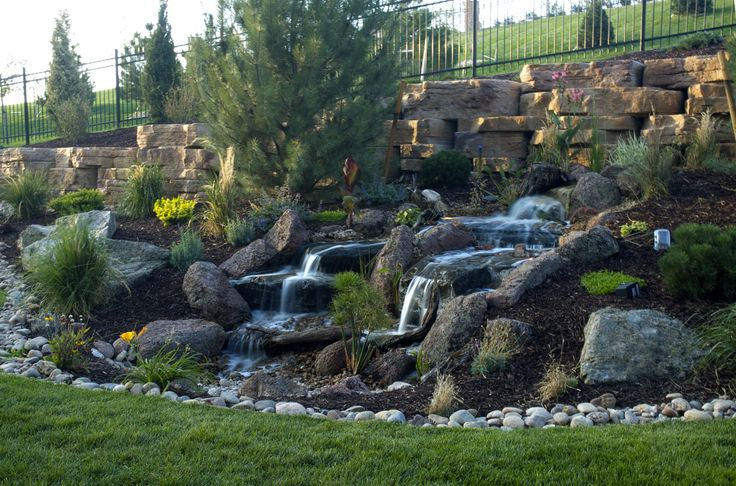 A Pondless Waterfall In A Denver Parade Of Homes Show