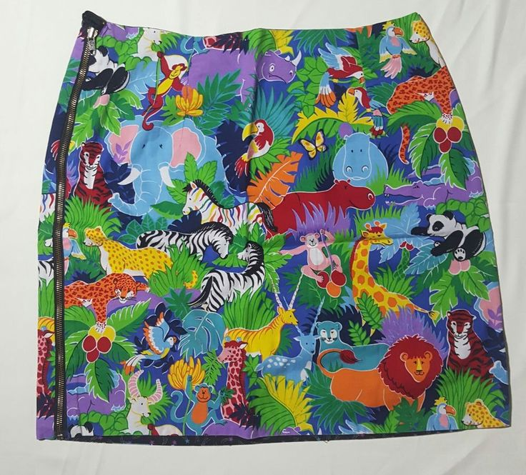 Reversible Pencil Skirt Sz L 10 Zoo Star Exposed Zipper Rainbow Zebra Whimsical  | Clothing, Shoes & Accessories, Women's Clothing, Skirts | eBay!