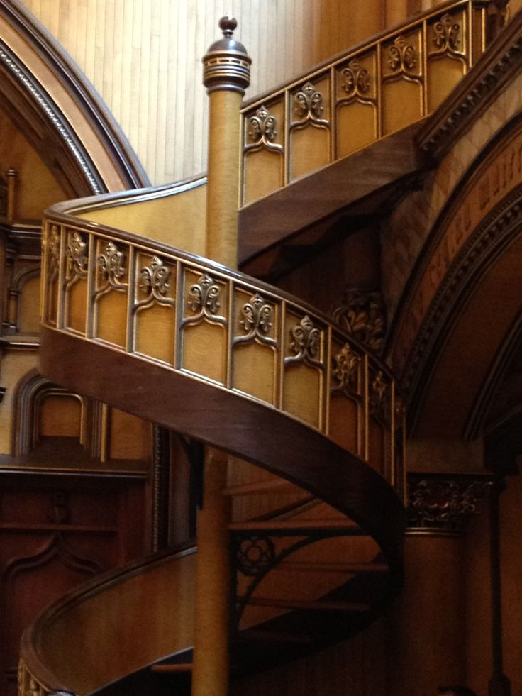Stairs in rear chapel of Basilica in Montreal