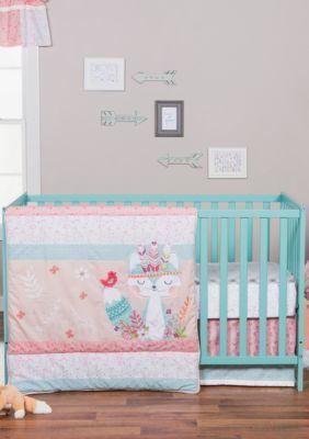 Trend Lab Girls' Wild Forever 3 Piece Crib Bedding Set - Multi - One Size
