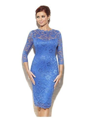 Amy Childs Georgia Cobalt Blue Lace Pencil Dress