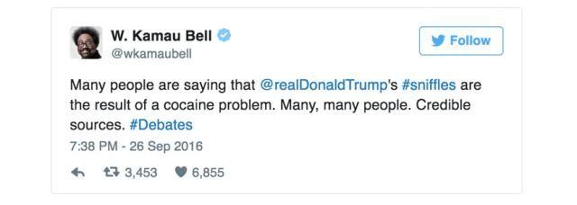 Funniest Presidential Debate Memes: W. Kamau Bell on Trump's Sniffles